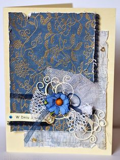 blueagata: navy blue wedding card
