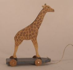 Giraffe Pull Toy by Veronique Bailleul