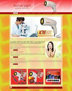 ActiveLight gyógylámpa információs oldal