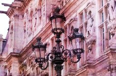 Paris Photo - Street Light at Hotel de Ville, Paris. $25.00, via Etsy.
