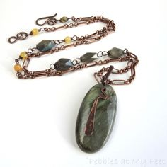 Labradorite and Honey Opal Necklace and Earrings Set