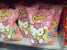Hello Kitty cheetos, too cute! Sanrio Hello Kitty, Hello Kitty Items, Hello Kitty Products, Hello Kitty Things, Hello Kitty House, Cute Snacks, Cute Food, Party Snacks, Girly