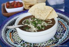 Black Bean Soup, this did not turn out too good for me, I'm going to try it one more time before I decide to delete it. I will give it another chance because there is always room for error!