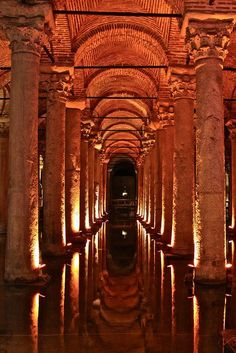 Basilica Cistern - Istanbul, Turkey This is one of the most magical places in Istanbul and it's underground!!! #Istanbulturkey