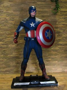 Captain America life size statue