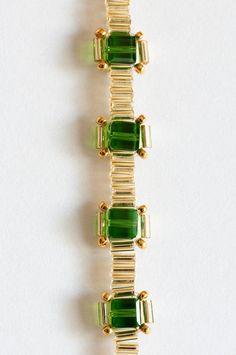 Seed Bead Bracelet in Fern Green Crystal by KKbraceletsandmore
