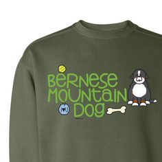 Bernese Mountain Dog Garment Dyed Crew Neck by WryToastDesigns, $39.99