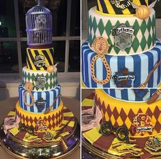 Mike evans had a harry potter-themed hogwarts cake at his wedding Bolo Harry Potter, Gateau Harry Potter, Harry Potter Wedding Cakes, Harry Potter Fiesta, Harry Potter Thema, Harry Potter Birthday Cake, Theme Harry Potter, Harry Potter Food, Mike Evans