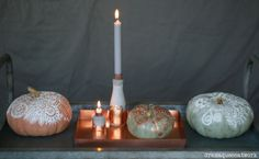 Zentangle pumpkin decoration - love the copper combination