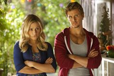 Anna Paquin & Ryan Kwanten as Sookie and Jason Stackhouse in True Blood