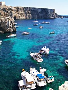 The clear blue waters of Comino Beach Tan, Ocean Beach, Places To Travel, Places To Visit, Malta Island, Need A Vacation, Great Places, Beautiful Places, Tropical