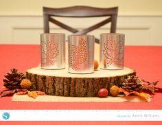 Faux Hammered Tin Luminaries by Annie Williams - Silhouette blog