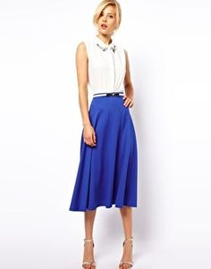 ASOS Midi Skirt in Texture the teal one is absolutely precious too
