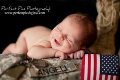 Military Baby with Flag Newborn Baby Photography, Newborn Photographer, Birth Photography, Photography Camera, Maternity Photography, Digital Photography, Military Baby Pictures, Army Baby, Marine Baby