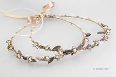 Rustic stefana wedding crowns Greek stefana orthodox wedding crown stephana handmade crowns olive stefana wedding Bridal crown burlap pearls by eAGAPIcom on Etsy