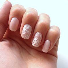 Subtle Snowflake Nails