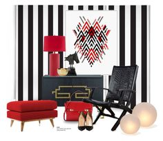 """""""Touch of Deco..."""" by gloriettequartet ❤ liked on Polyvore featuring interior, interiors, interior design, home, home decor, interior decorating, Milton & King, Henri Bendel, NOVICA and JAlexander"""