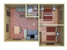 House Floor Design, Small House Interior Design, Home Design Floor Plans, Small House Layout, Small House Plans, House Layouts, Small Apartment Plans, Small Apartment Design, Home Layout Design