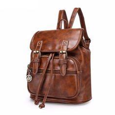 Vintage Designer Backpacks Handbag Luxury Backpacks High Quality PU Leather Bag