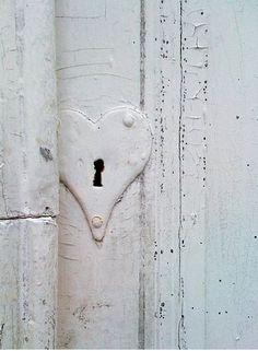 Lovely white heart lock...