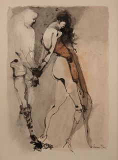 iamjapanese: Leonor Fini(Argentine, 1907-1996) Bondage 1980 Lithograph in colour
