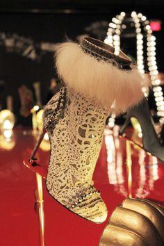 Tootsie    Autumn/Winter 2011-12   Lizard, metal spikes, glazed lambskin, tulle, horsehide with badger fur