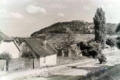 Naphegy utca, szemben a Gellért-hegy az Orom utca és a Bérc utca házaival.