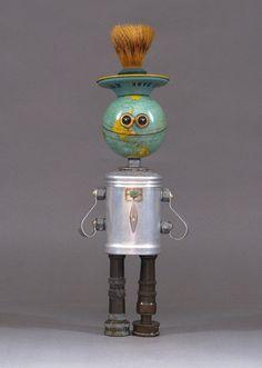 ROBOT SCULPTURE Metal art robot Metal art by CastOfCharacters23