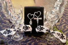 Every Wedding reception needs a pair of toasting glasses.