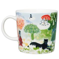 Muminboden - The shop for you who love Moomin! - Arabia Moomin Mug - Moomin Valley - 2017 Moomin Shop, Moomin Mugs, Les Moomins, Glass Tea Cups, Tove Jansson, Cat Mug, Nordic Design, Porcelain Ceramics, Art Museum