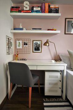 Room Design Bedroom, Bedroom Decor, Glitter Bedroom, Study Table Designs, Home Office Decor, Home Decor, Cozy Room, New Room, Decoration