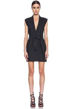 Isabel Marant Etoile Jill Linen Costard Dress in Anthracite | FWRD [1]