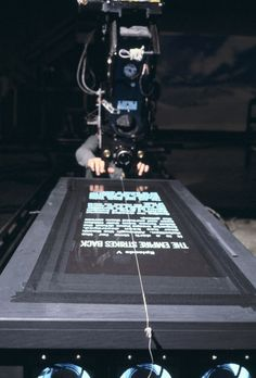 Behind-the-scenes awesomeness: filming The Empire Strikes Back credit sequence.