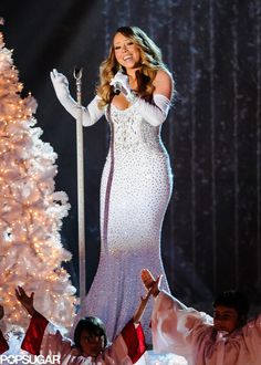 Mariah Carey at the Rockefeller tree lighting