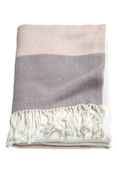 Плед колор-блок - Матово-розовый - HOME | H&M RU