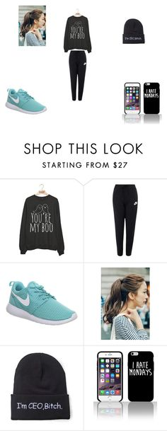 """""""Boo"""" by finley21 ❤ liked on Polyvore featuring NIKE, Marlangrouge, women's clothing, women, female, woman, misses and juniors"""