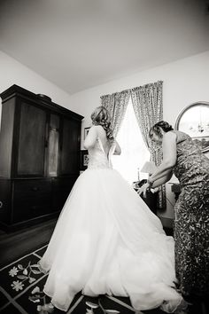 DeMuth-Eggleston Wedding Photo By Visions by Heather Mother of the bride helping me get ready.  Allure 8901