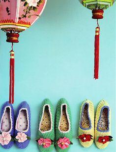 Brabourne Farm: Crochet slippers