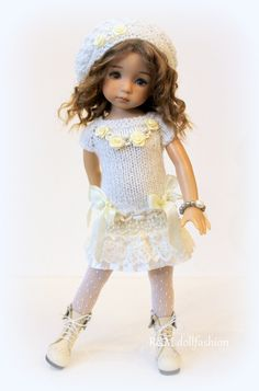 """R&M DOLLFASHION - OOAK HOLIDAY LINE outfit for LITTLE DARLING EFFNER 13"""" doll 