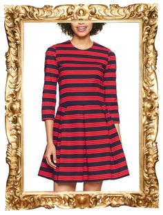 Striped Fit & Flare Dress - $69.95 (get 20% off with code GAPXMAS)