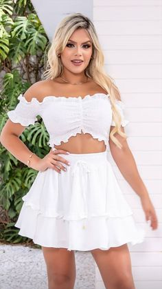 Fashion Dresses, White Dress, Vestidos, Fashion Show Dresses, White Dress Outfit, Trendy Dresses