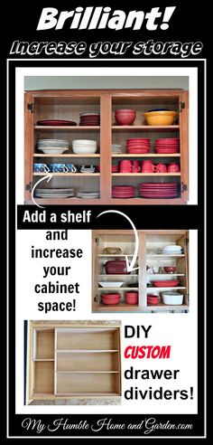 Organize!  Adding one extra shelf at a time!  on My Humble Home and Garden