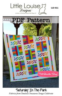 Saturday in the Park Downloadable PDF Quilt Pattern<BR>Little Louise Designs