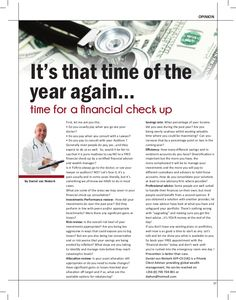 Your Free Annual Financial Checkup
