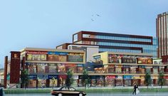 Gaur City Center, new commercial spaces to the Noida Extension where all the major markets will gonna take place soon. The location is beautiful just have the all amenities near it.