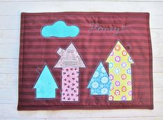 Placemat Honey for kids in gingerbread brown and by poppyshome, $35.00