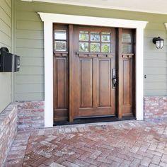 Front Door Design with Craftsman trim