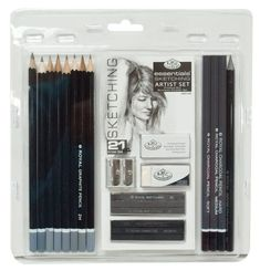 Drawing & Lettering Supplies Artists 21 Piece Sketching Art Set By Royal And Langnickel - & Garden Cool Drawings, Drawing Sketches, Pencil Drawings, Pencil Sketching, Drawing Artist, Crayola Colored Pencils, Artist Pencils, Positive Art, Charcoal Art