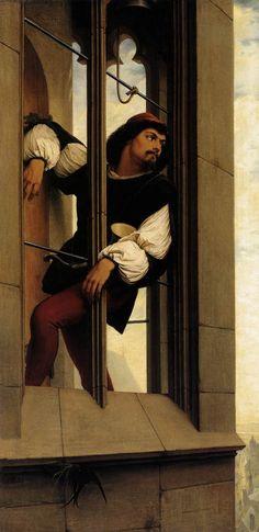Edward Jakob von Steinle: The Tower Watchman  (1859)