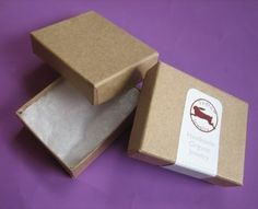 100 small Kraft cotton filled boxes by sudlow on Etsy, $20.00